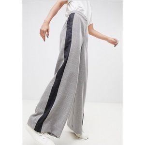 ASOS DESIGN Check Wide Leg Suit Pants NWT